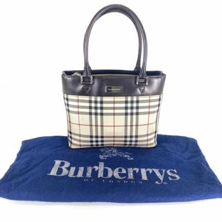 BURBERRY - バーバリー チェック柄 ハンドバッグ