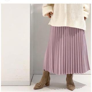 ノーブル(Noble)のNOBLE ニットプリーツスカート(ロングスカート)
