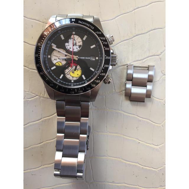 JAM HOME MADE & ready made(ジャムホームメイドアンドレディメイド)のシークレットミッキー TYPE-1 SILVER メンズの時計(腕時計(アナログ))の商品写真