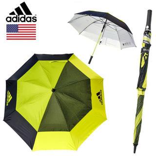 アディダス(adidas)のアディダス ダブルキャノピーUVイエロー 137cm新品 ゴルフ傘 晴雨兼用(その他)