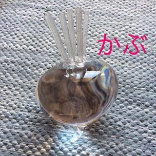 トウヨウササキガラス(東洋佐々木ガラス)の大きなカブ ガラス置物(その他)