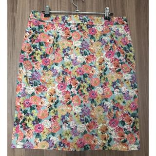 ノーブル(Noble)のNoble  花柄スカート(ひざ丈スカート)
