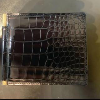 トムフォード(TOM FORD)の美品 TOM FORD トムフォード   クロコダイル マネークリップ 財布(折り財布)