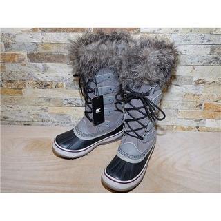 ソレル(SOREL)のソレル ジョアンオブアークティック スノーブーツ グレー×黒 23cm(ブーツ)