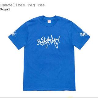 シュプリーム(Supreme)のSupreme Rammellzee Tee 青L(Tシャツ/カットソー(半袖/袖なし))