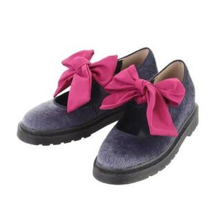 メリージェニー(merry jenny)の🎀merry jenny ハイコライクbigリボンシューズ🎀(ローファー/革靴)