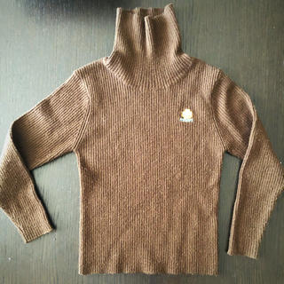パーソンズキッズ(PERSON'S KIDS)のperson's ハイネックニット 110 茶色(Tシャツ/カットソー)