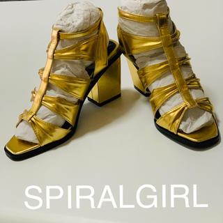 スパイラルガール(SPIRAL GIRL)のSPIRALGIRL グラディエーターサンダル ゴールド ヒール 新品 未使用品(ハイヒール/パンプス)