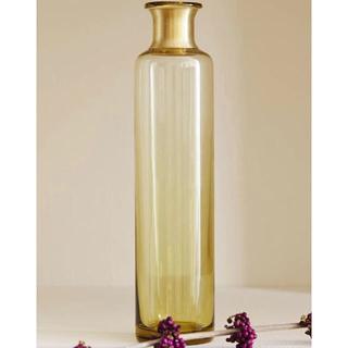 ザラホーム(ZARA HOME)のZARAHOME アップリケ付きボトル(花瓶)