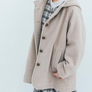 SM2 - 中空糸ウールフードミドル丈コート
