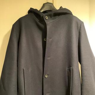 ウール フード ショートコート メンズ XL