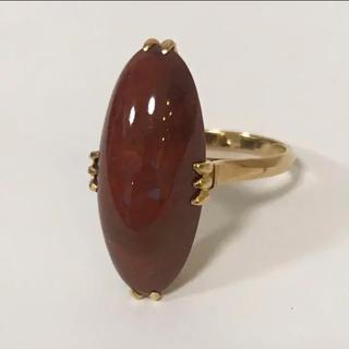 K18 色石赤茶色 リング 指輪 14号(リング(指輪))