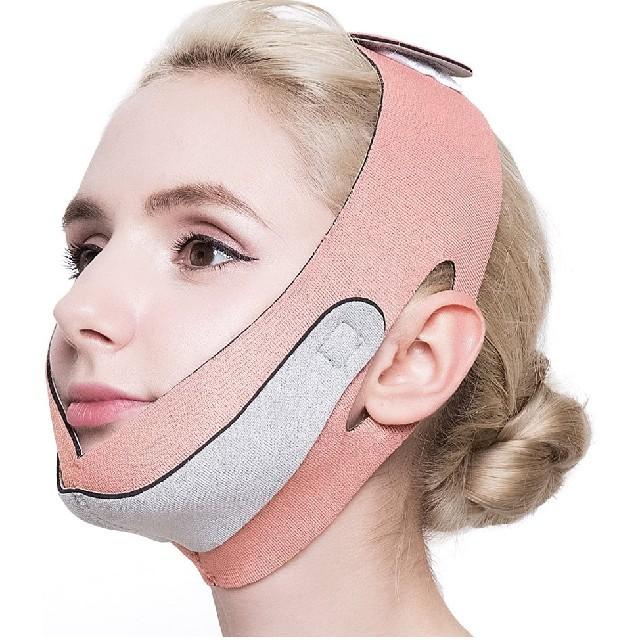 マスク ピンク 小さめ 、 小顔 ベルト リフトアップ フェイスマスク グッズ メンズ レディース  の通販