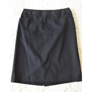 グリーンレーベルリラクシング(green label relaxing)のストライプ オフィス スカート(ひざ丈スカート)