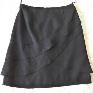 ブラック オフィス スカート(ひざ丈スカート)