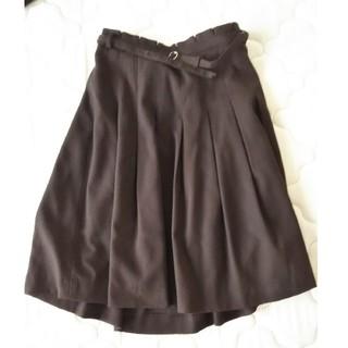 クリアインプレッション(CLEAR IMPRESSION)のブラウン ツイード スカート オフィス(ひざ丈スカート)