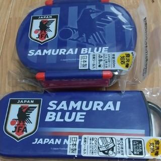 SAMURAI BLUE 日本代表 お弁当箱 フォーク 箸 スプーン セット(弁当用品)