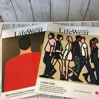 ユニクロ(UNIQLO)のUNIQLO LifeWear magazine Issue 01 、02(ファッション)