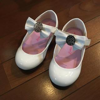 ディズニー(Disney)のビビディバビディブティック 白靴 17センチ(フォーマルシューズ)