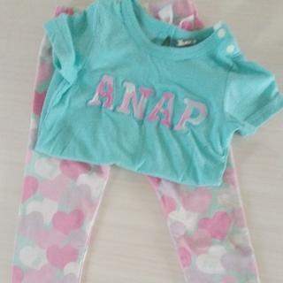 アナップキッズ(ANAP Kids)のおまとめ中 ANAP KIDS セットアップ 90cm グリーン(ワンピース)