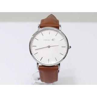 カナルヨンドシー(canal4℃)の4℃ 腕時計 クオーツ 32mm 男女兼用 美品 (ベルト社外新品)ヨンドシー(腕時計)