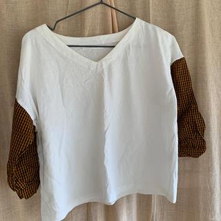 レトロガール(RETRO GIRL)の切り替えシャツ(シャツ/ブラウス(長袖/七分))