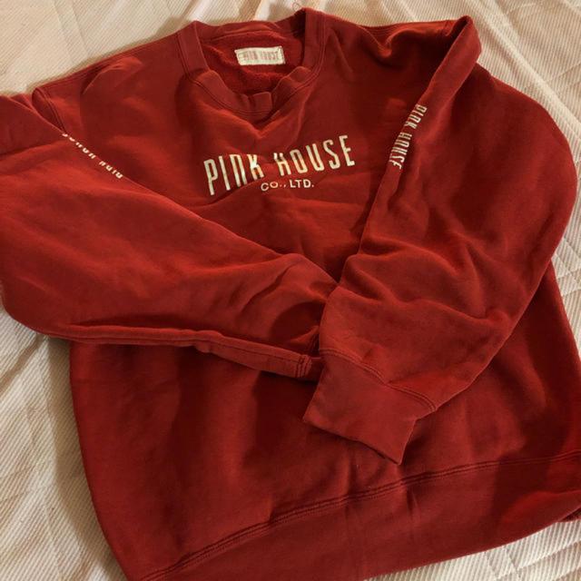 PINK HOUSE(ピンクハウス)のピンクハウス 赤トレーナー  レディースのトップス(トレーナー/スウェット)の商品写真