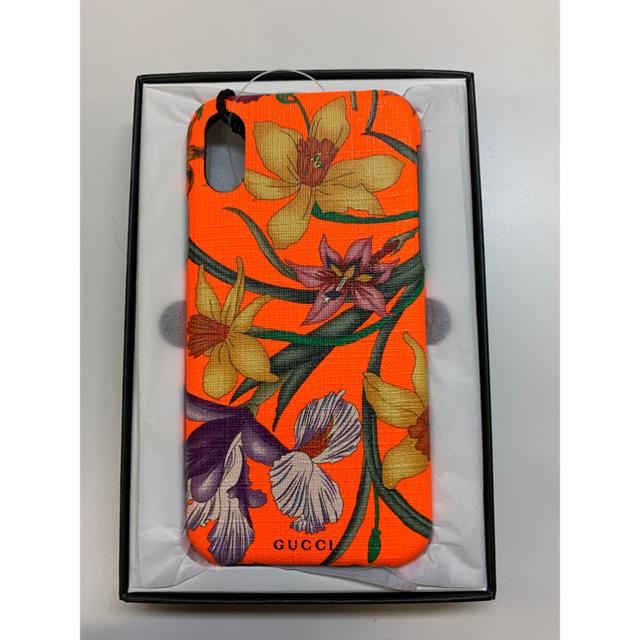 Gucci - 新品 フローラ プリントiPhoneX/XSケース オレンジの通販