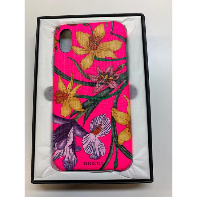 Gucci - 新品 フローラ プリントiPhone X\XSケース ピンクの通販
