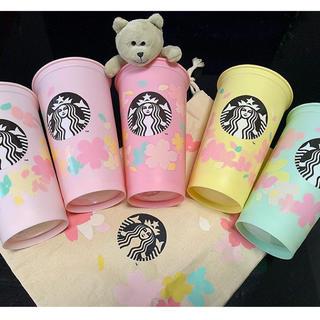 スターバックスコーヒー(Starbucks Coffee)のスタバ サクラ リユーザブルカップ473mlセット&バッグ(タンブラー)