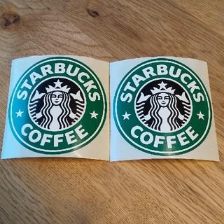 スターバックスコーヒー(Starbucks Coffee)のレア スターバックス スタバ 旧ロゴ ステッカー 2枚(しおり/ステッカー)