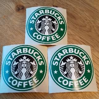 スターバックスコーヒー(Starbucks Coffee)のレア スターバックス スタバ 旧ロゴステッカー 3枚(しおり/ステッカー)