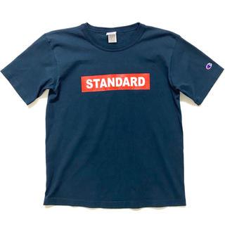 スタンダードカリフォルニア(STANDARD CALIFORNIA)の美品 スタンダードカリフォルニア×チャンピオン Tシャツ ネイビー◆ロンハーマン(Tシャツ/カットソー(半袖/袖なし))