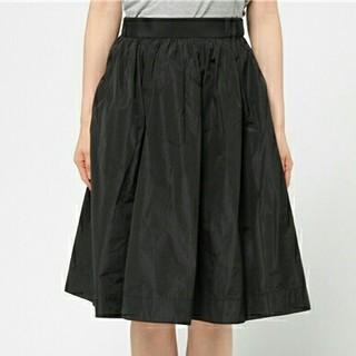 デイシー(deicy)のdeicyフレアスカートギャザースカートブラックスカートレディース送料無料(ひざ丈スカート)