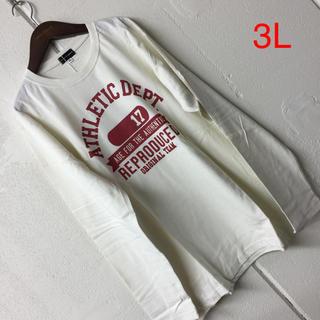 ニッセン(ニッセン)の3Lメンズ長袖 Tシャツ(Tシャツ/カットソー(七分/長袖))