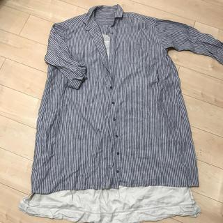 ネストローブ(nest Robe)のネストローブ  ストライプ 羽織 美品(ロングワンピース/マキシワンピース)