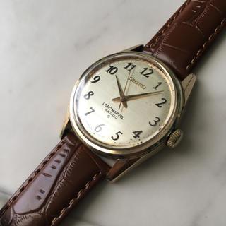 セイコー(SEIKO)のロードマーベル 全数字絹目文字盤 ゴールド(腕時計(アナログ))