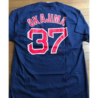 マジェスティック(Majestic)のレッドソックス 岡島選手背番号37 メンズTシャツ(応援グッズ)