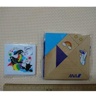 エーエヌエー(ゼンニッポンクウユ)(ANA(全日本空輸))のANA 木製 脳育 タングラム スターフライヤー パズル(知育玩具)