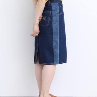 パーリッシィ(PAR ICI)の新品タグ 未着 パーリッシィ 綿100 12OZデニム 脇切り替えタイトスカート(ひざ丈スカート)