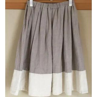 ネストローブ(nest Robe)のblanket  リネン スカート(ひざ丈スカート)