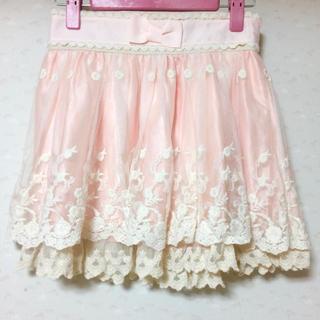 LIZ LISA - リズリサ ウエストリボン レース スカート ピンク