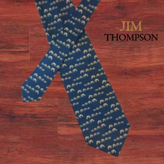 ジムトンプソン(Jim Thompson)のJim Thompson ジムトンプソン ネクタイ ネイビー系 象 ゾウ柄(ネクタイ)
