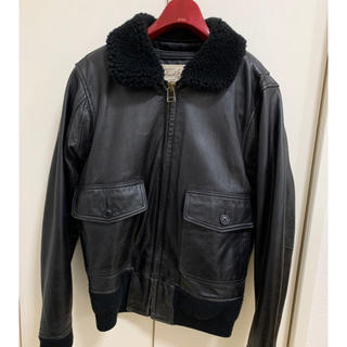 アヴィレックス(AVIREX)のアヴィレックス G-1 フライトジャケット 革ジャン レザージャケット ブラック(レザージャケット)