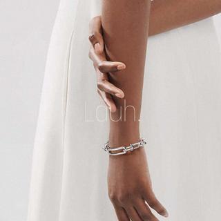 ルシェルブルー(LE CIEL BLEU)のj336.Tiffany wide link bracelet(silver)(ブレスレット/バングル)