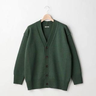 コモリ(COMOLI)のAURALEE Felt Wool Yarn Knit Cardigan(カーディガン)