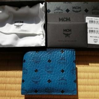 エムシーエム(MCM)のMCMメンズ財布【正規品】モノグラムニつ折り(折り財布)