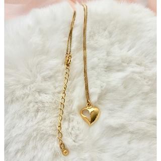 新品 ◆11,000円 SN刻印あり 金色 ハート ネックレス 日本製(ネックレス)