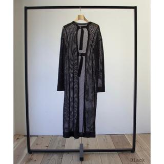 イセタン(伊勢丹)のリトルスージー 2way メッシュニット ドレス ブラック (ロングワンピース/マキシワンピース)