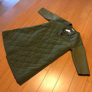 ドゥドゥ(DouDou)のノーカラーコート ロングコート コート アウター 新品 着痩せ Dou Dou(ロングコート)